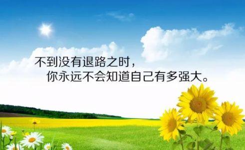 朋友圈早安激励人心励志的句子